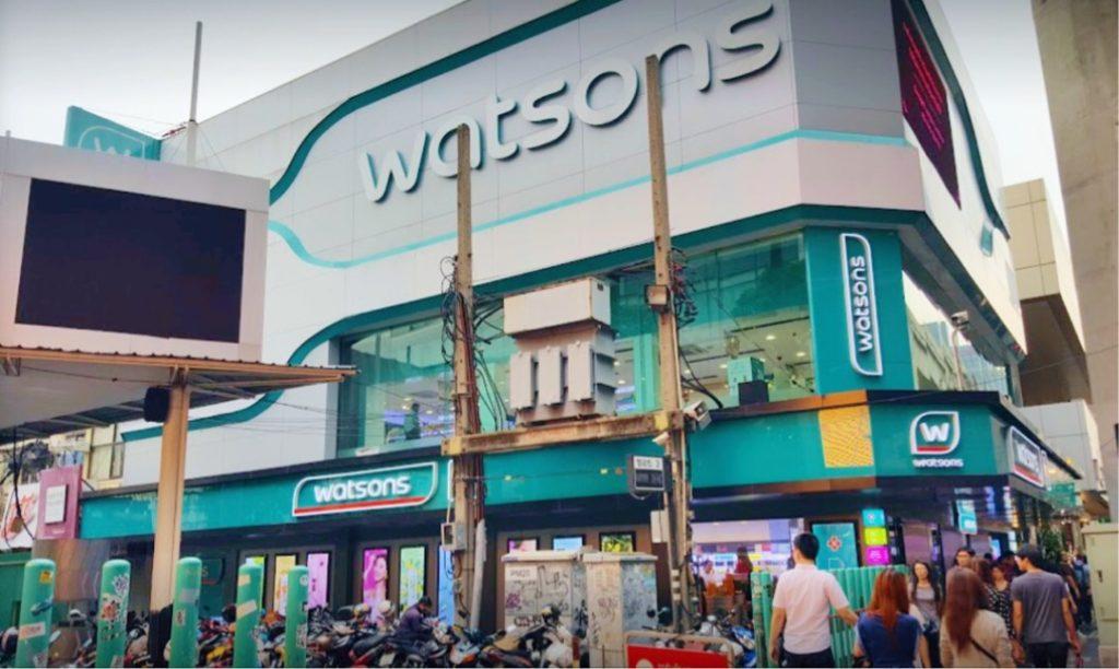 Watsons Terbesar di Thailand di Siam Square