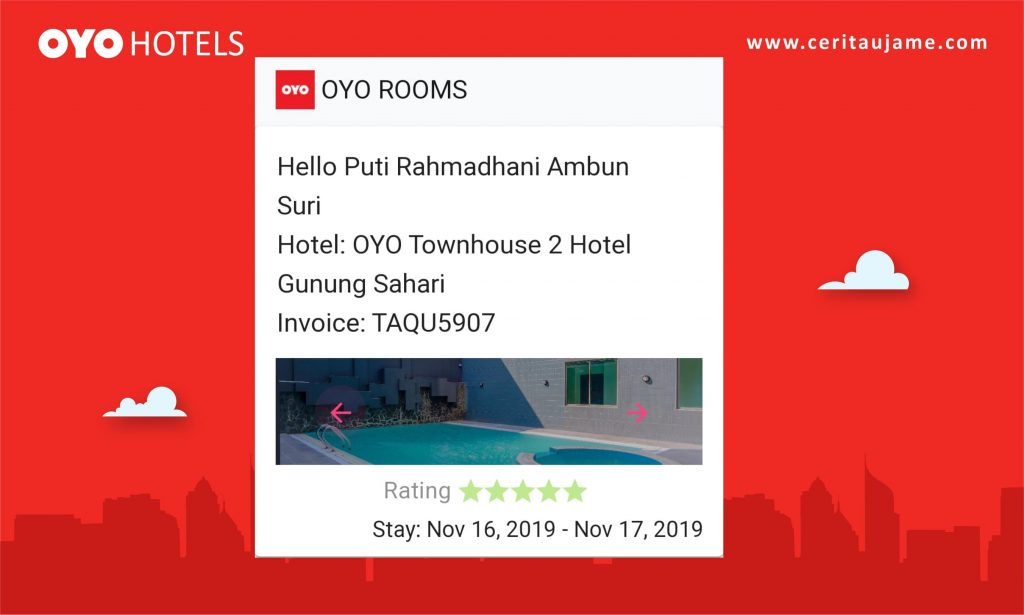 Ujame's review OYO Townhouse 2 Gunung Sahari, Jakarta
