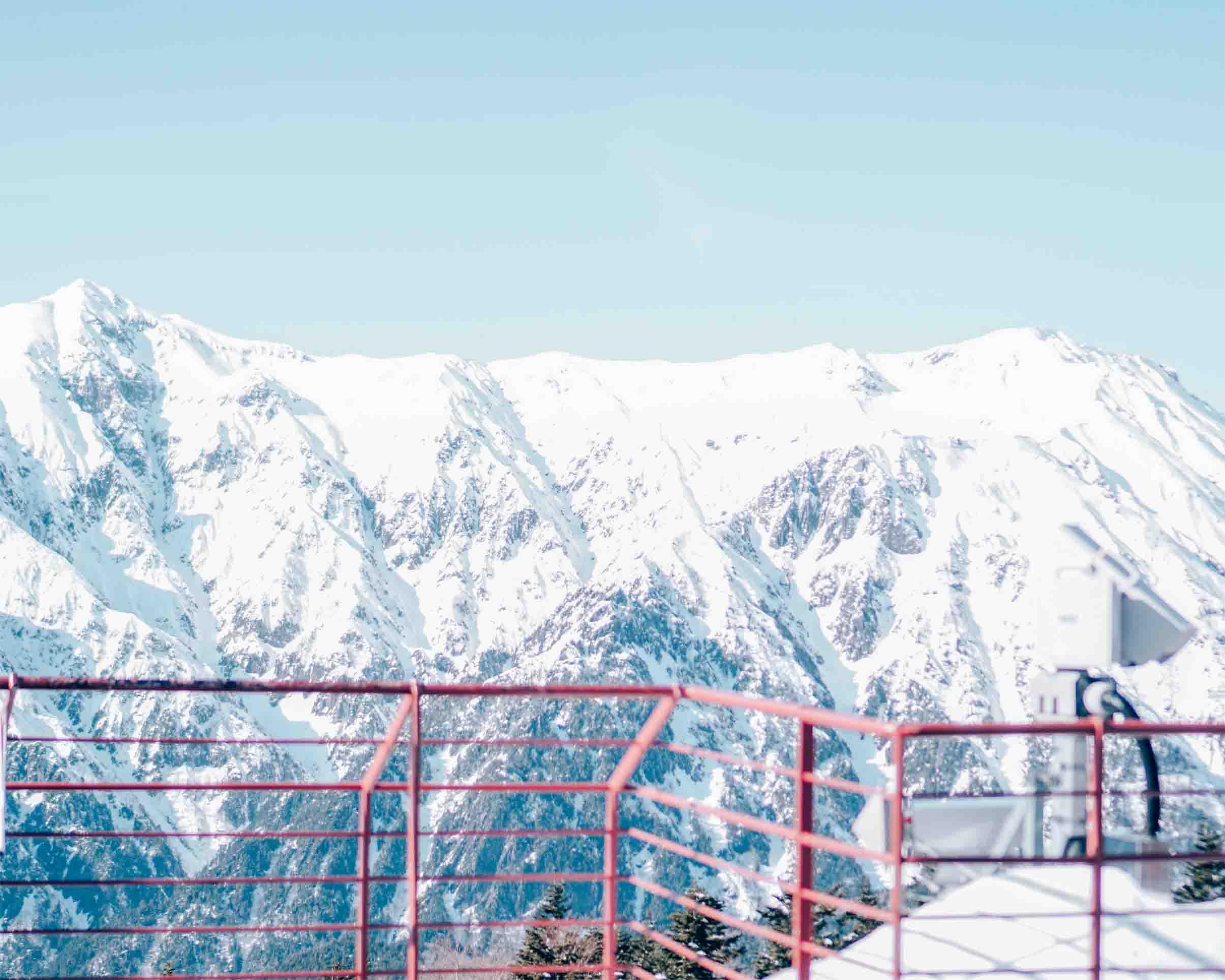 Pegunungan Alpen Jepang yang FULL tertutup salju