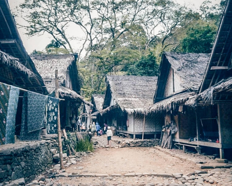 Potret rumah di Baduy Luar